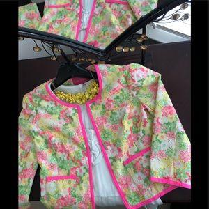 "NWOT Lilly Pulitzer Neon Floral Sunbonnet ""Nelle"""